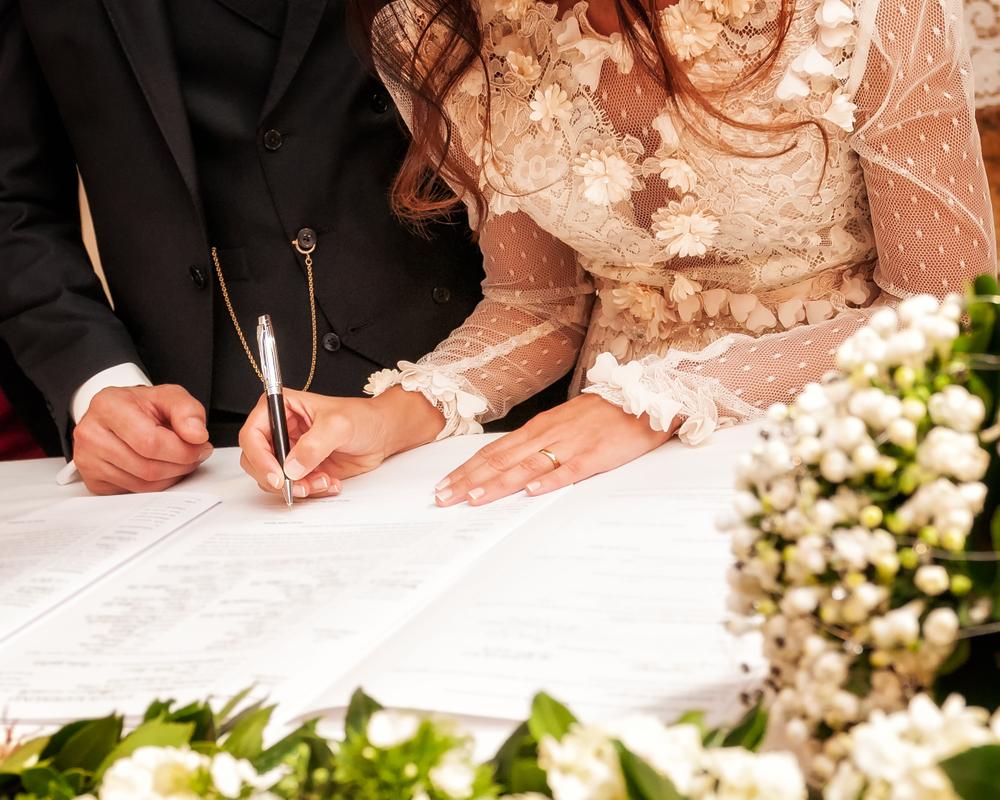 Standesamt Unterschrift Heirat
