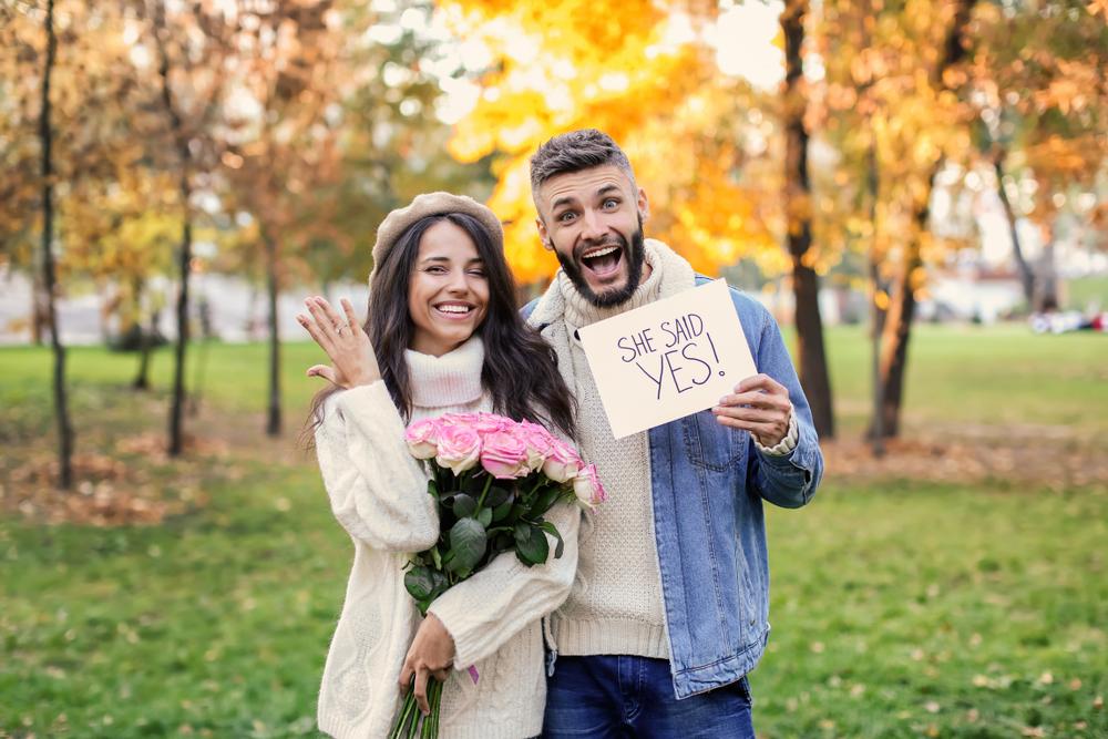 Verlobung Paar